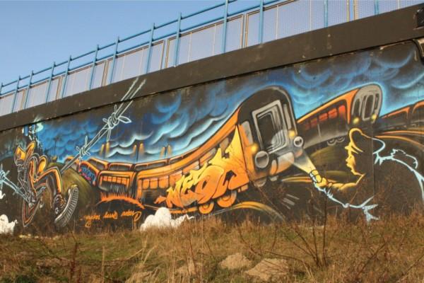 Zugüberfall 1 Nordbrücke